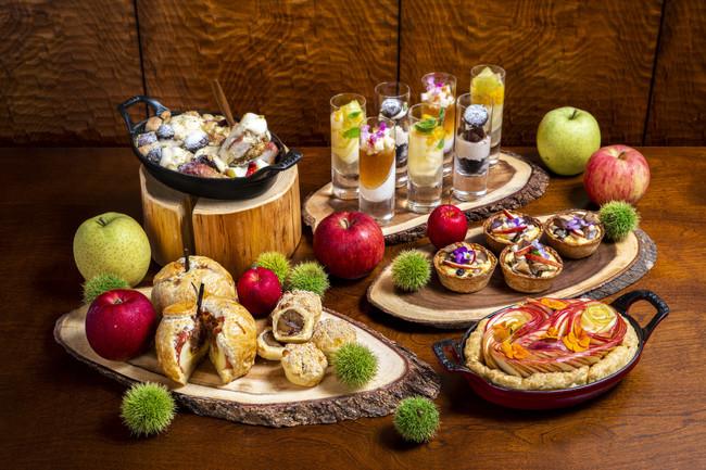 リンゴと栗のスイーツイメージ