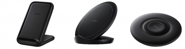 <WIRELESS CHARGER STAND/左から(N5200T)、(N5105)><WIRELESS CHARGER PAD>