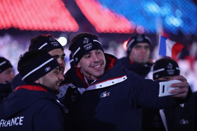 開会式でのフランス選手団