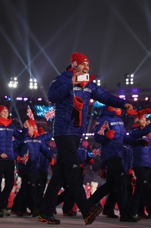 開会式でのイギリス選手団