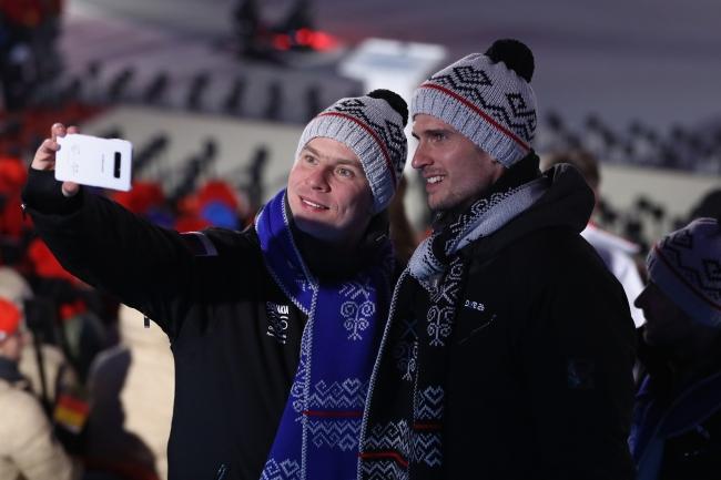 開会式でのスロバキア選手団