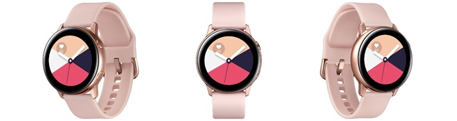 「Galaxy Watch Active」<ローズゴールド>