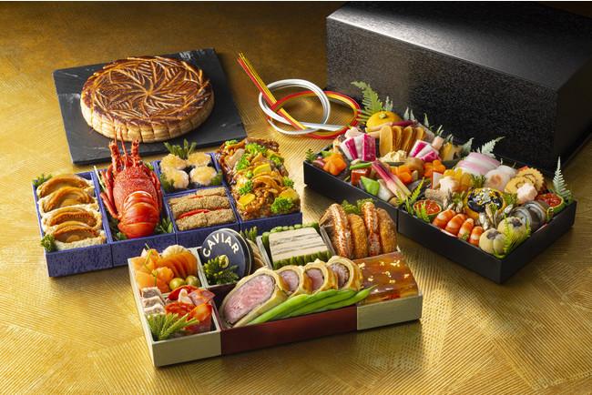 コンラッド東京 おせち料理 三段重・有田焼の器で