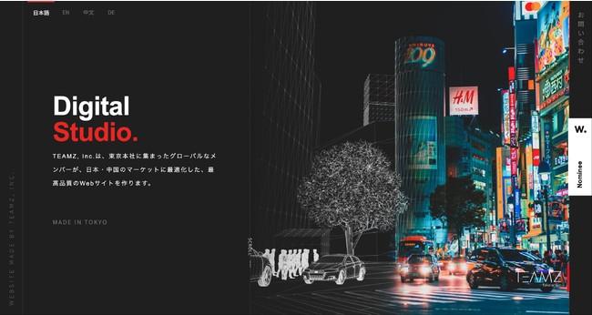 株式会社TEAMZのホームページ。高度なデザインと情報を正確に伝えることに長けています。