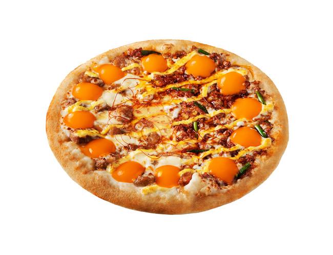 プルとろ月見ピザ
