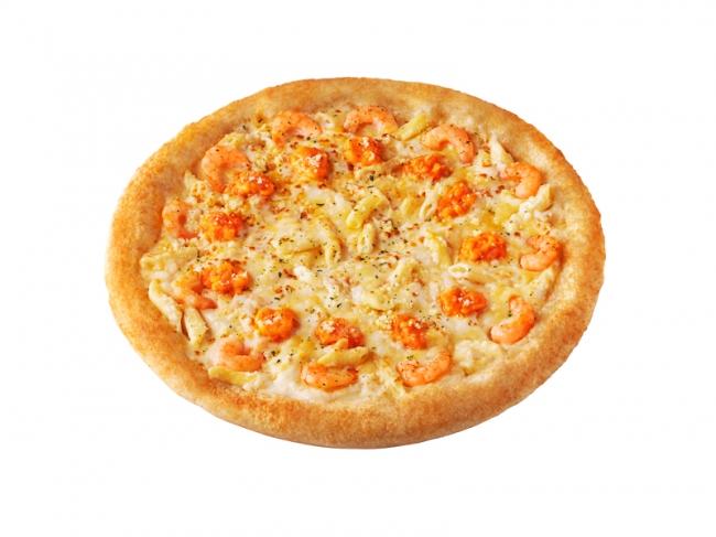 オマールソースの「えびぷりグラタンピザ」