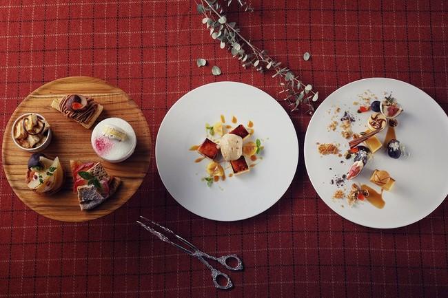 2Fカフェラウンジ・ケーキ各種/レストラン・イタリアンマロンのジェラートとクレマカタラーナ 大人のキャラメルソース/2Fカフェラウンジ・季節のクリエーション