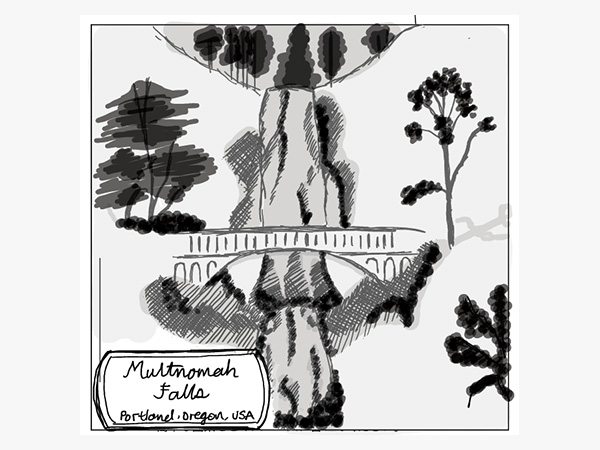Multnomah Falls/モルトノマ滝