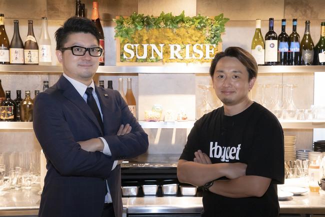 (左)アイフーズ:後藤、(右)ご協力店様 撮影時のみ、マスクを外しております。