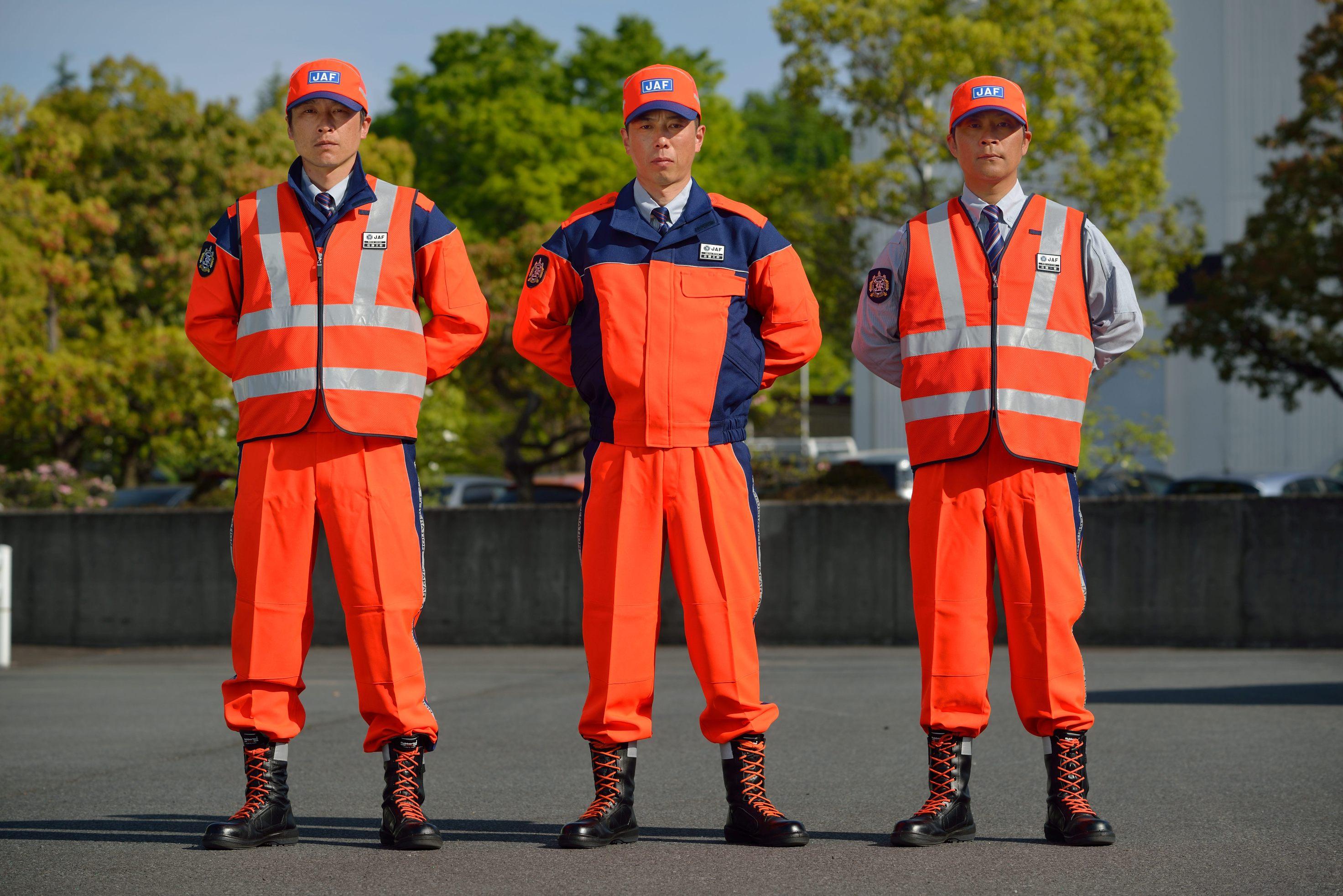 JAFロードサービス隊員のオレンジ制服をリニューアル! ISO規格に基づいた改良で視認性を向上