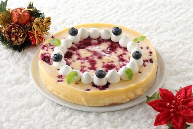 木苺のベイクドチーズケーキイメージ