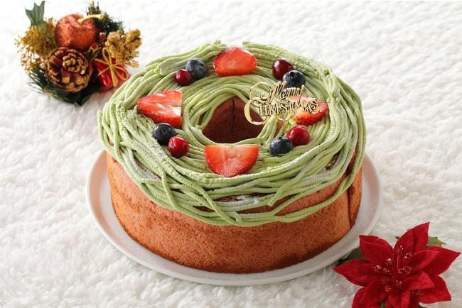 クリスマスリースの苺シフォン