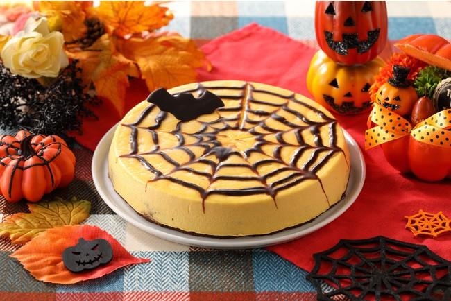 蜘蛛の巣かぼちゃムース イメージ
