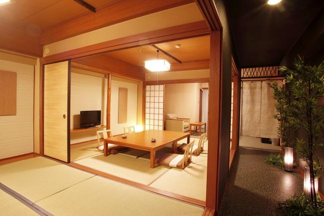 余裕の広さ54平方メートル のデラックス和洋室