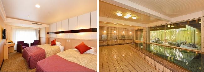 客室一例、大浴場
