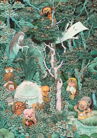 『妖怪たちの棲む森』1979年 (C)水木プロダクション