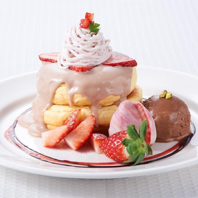 レインボーパンケーキ/きらぴ香ショコラのパンケーキ