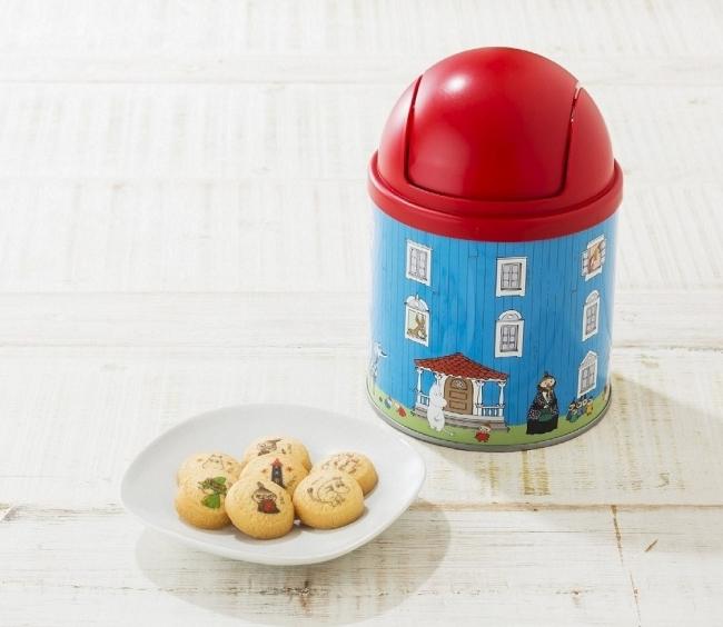 ハウス缶入りお菓子(バタークッキー12枚入り、約高さ20×幅11cm)1,080円