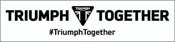 TRIUMPH TOGETHER オリジナルステッカー 縦5cm x横 21 cm
