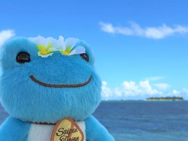 マリアナ×ピクルス2。マニャガハ島がみえるサイパンのビーチで
