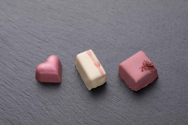 「ルビーチョコレート 3個セット」 箱入り 1,500円(税別)