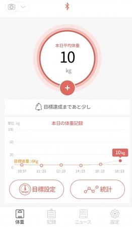 体重管理画面