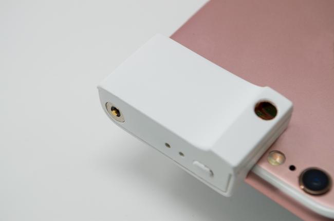 スマートフォンのカメラとレーザーポインター