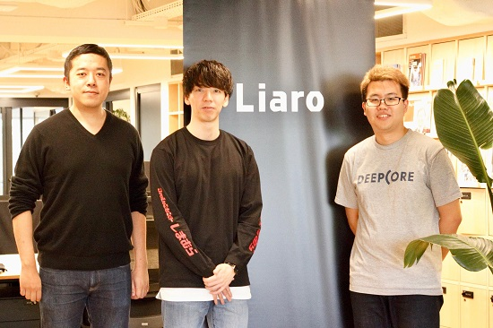 (左から、  Deep30 代表 田添 聡士、  Liaro  CEO 花田 賢人、  DEEPCORE Manager, Incubation & Investment 渡邊 拓)