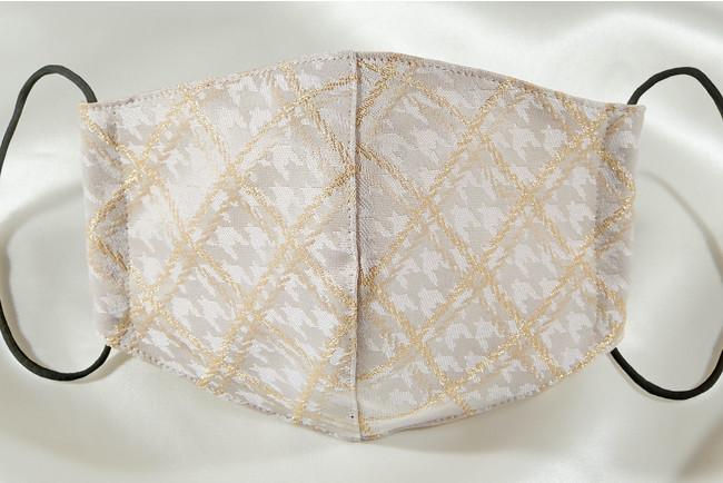 新作西陣織マスクGrace(white)