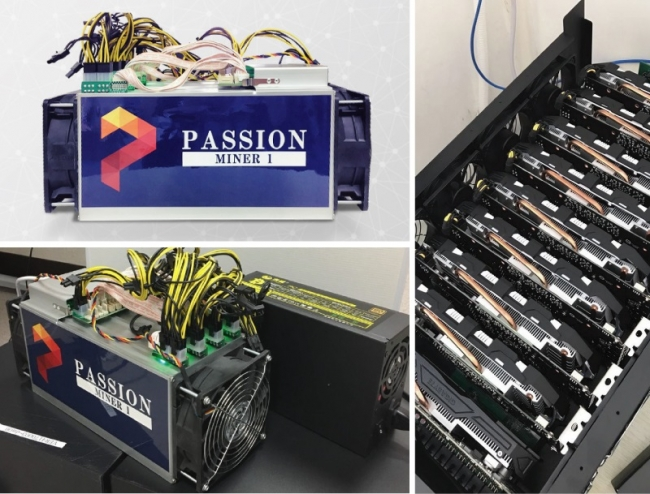 マイニングマシン(写真左)ASICタイプ(写真右)GPUタイプ