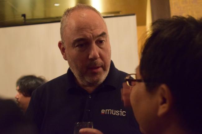 <eMusic CEO Tamir Koch氏>