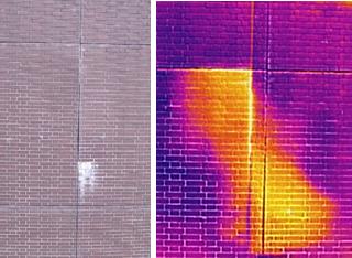(左)可視光カメラによる撮影 (右)赤外線カメラによる撮影