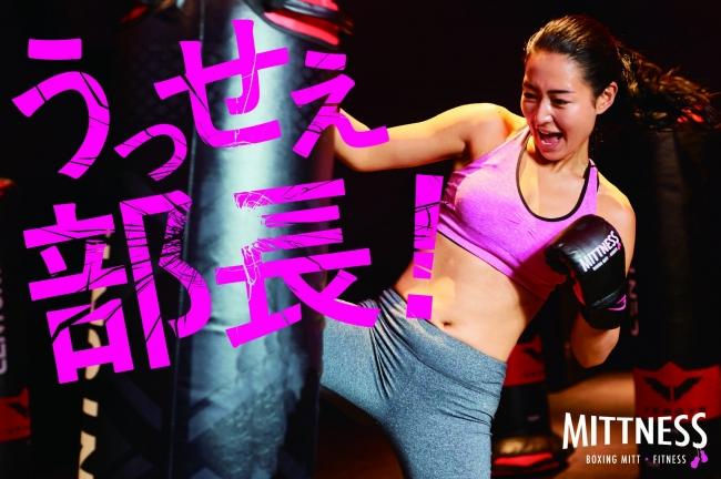 ミットネスのテーマ「楽しくストレス発散!」をテーマとしたメイン広告画像