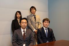 上段、左から伏江氏 小澤氏、下段、左から竹下氏、岡村氏