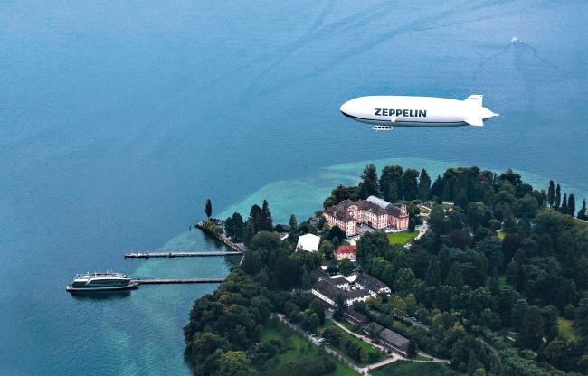 飛行船「ツェッペリン号」(イメージ)