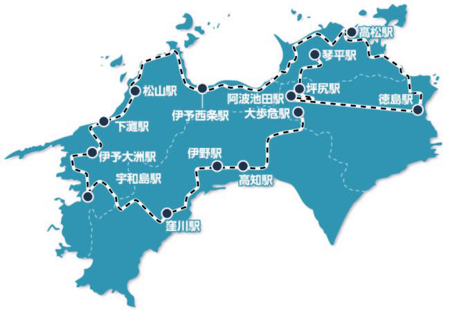 ※運行ルートはイメージとなり一部変更となる場合があります。また、駅名は通過駅も含まれます