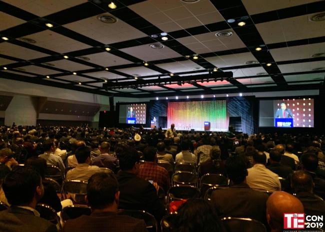 当日のTiEcon会場の様子、  約5,000人の参加者が集まりました。