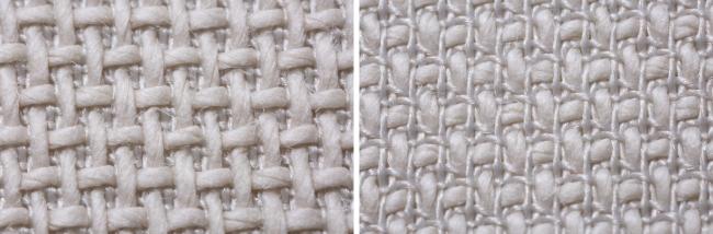 片面に太い和紙糸が浮き上がる特殊な二重織り構造