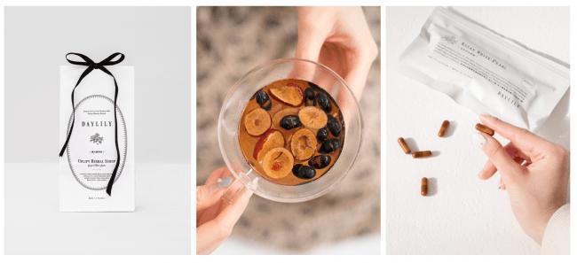 DAYLIL大人気商品「Uplift Herbal Syrup 暖活薑棗飲」や食べられるお茶「EAT BEAU-TEA」