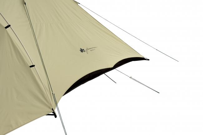 インナーテントとフライシートに隙間を設けることで、 風通しのよい抜群の通気性を実現。