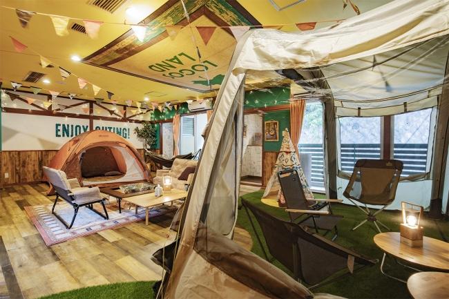 キャンプサイト 2テントタイプ