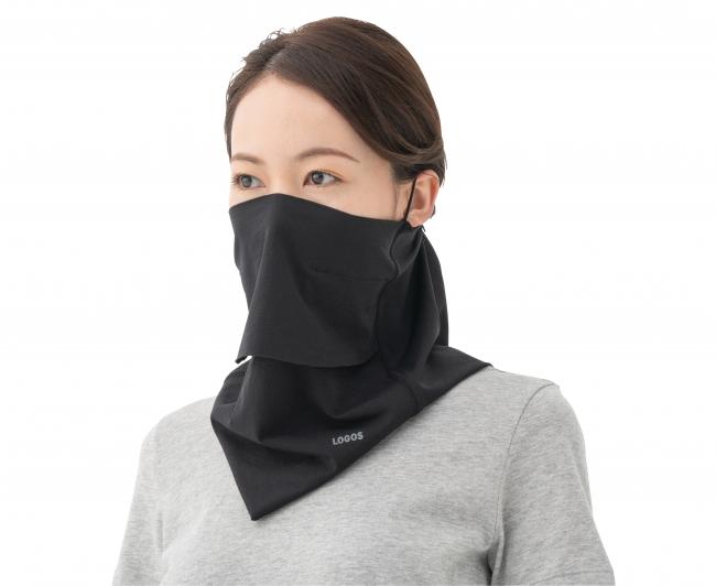 首から顔を覆う設計で、素材にUVカットと冷感加工を施したフェイスマスク。 屋外活動での熱中症対策や、紫外線・飛沫防止アイテムとして大活躍。