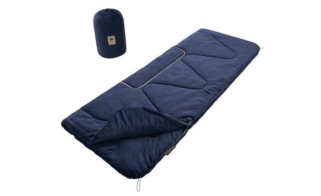 長さ220cmと大型で、ゆったりとした寝袋として使用できる寝袋。