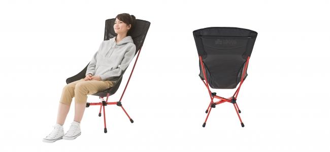 背もたれが大きく、全身を委ねて ゆったりと座れるので長時間の利用に最適。