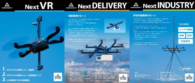 4D Gravity™搭載の「Next」シリーズ