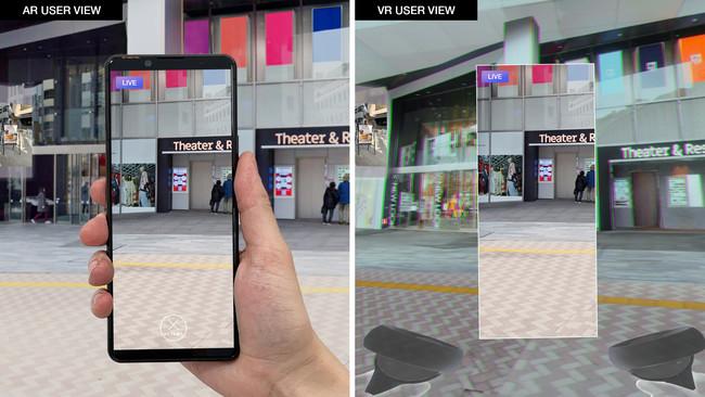 ARユーザーからVRユーザーへのリアルな街の映像配信