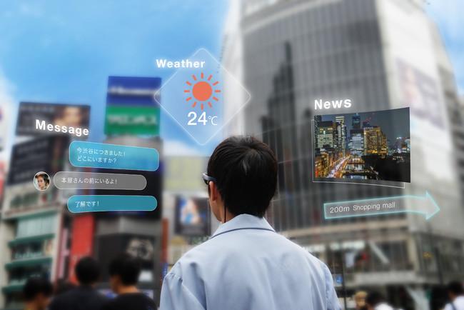 街スケールのARコミュニケーションサービスイメージ