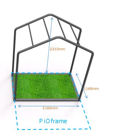 「PiOframe」の半分の面積で、狭いスペースにも置くことができます。