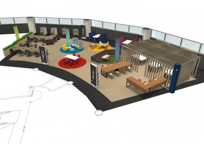 ITOKI-seating area- (場所:第2サテライト2階)※画像はイメージです。