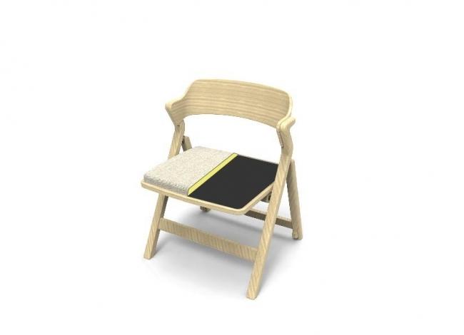 柔らかいダイメトロール素材の座面